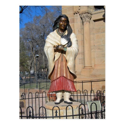 Kateri Tekakwitha Lily of the Mohawks Statue Postcard