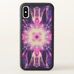 Carved Apple iPhone X Bumper Wood Case with Collie Phone Cases design