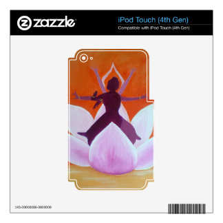 Kathak Dancers in Lotus Flower iPod Touch 4G Decals