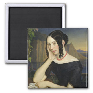 Katharina Kern of Sterzing, 1842 2 Inch Square Magnet
