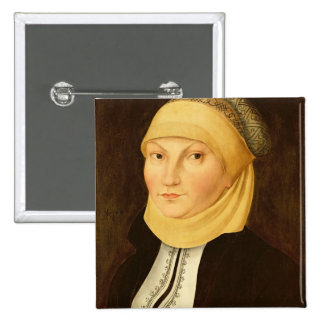 Katharina Luther , 1528 2 Inch Square Button