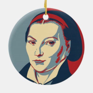 Katharina Luther Tri-Colored Circle Ornament