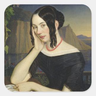 Katharina Núcleo de condensación de Sterzing, 1842 Pegatina Cuadrada