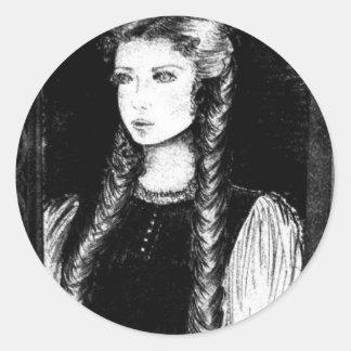 Katharina Siegel (Dracula's Lover) Classic Round Sticker