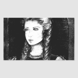 Katharina Siegel (Dracula's Lover) Rectangular Sticker