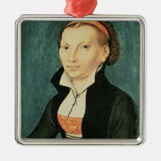 Katharina von Bora, future wife of Martin Metal Ornament
