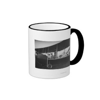 Katharine Wright with Orville in Model HS Ringer Coffee Mug