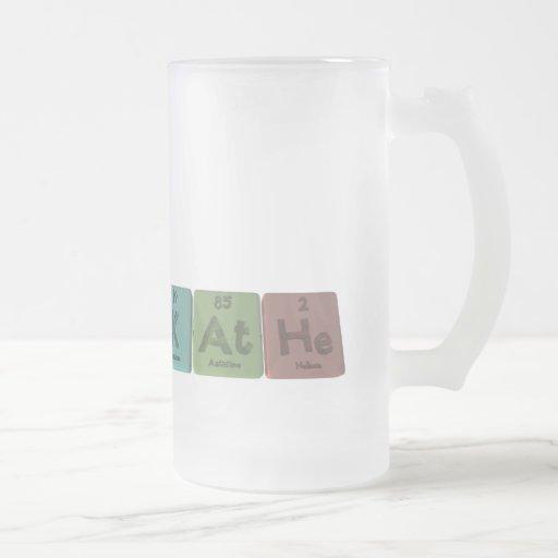 Kathe como helio del astatino del potasio taza cristal mate
