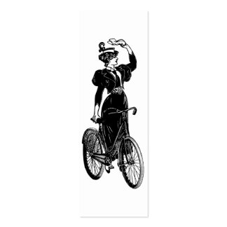 Katherine, a Vintage Cyclist Double-Sided Mini Business Cards (Pack Of 20)