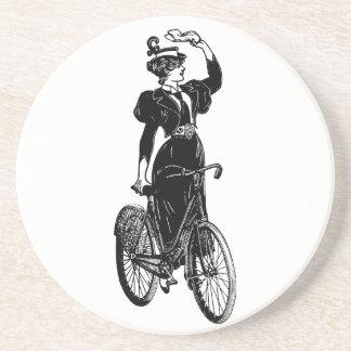 Katherine, a Vintage Cyclist Coasters