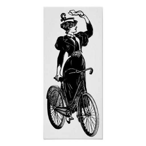 Katherine, a Vintage Cyclist Poster
