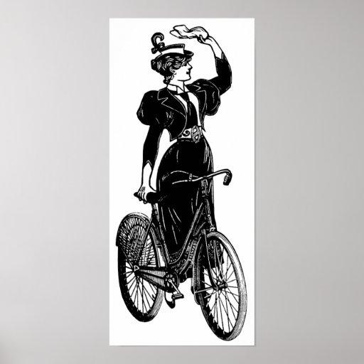 Katherine, a Vintage Cyclist Poster