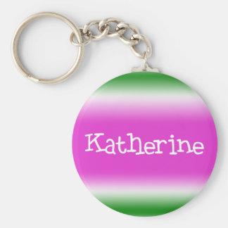Katherine Basic Round Button Keychain
