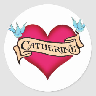 Katherine - camisetas y regalos de encargo del etiqueta redonda