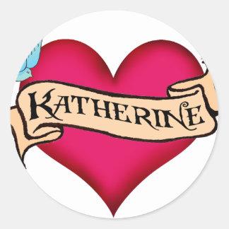 Katherine - camisetas y regalos de encargo del etiquetas redondas