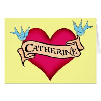 Katherine - camisetas y regalos de encargo del tat tarjeta