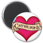 Katherine - Custom Heart Tattoo T-shirts & Gifts Refrigerator Magnet