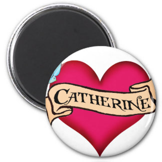 Katherine - Custom Heart Tattoo T-shirts & Gifts Refrigerator Magnet