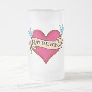 Katherine - Custom Heart Tattoo T-shirts & Gifts Mug