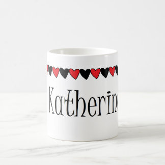 Katherine Hearts Name Coffee Mug