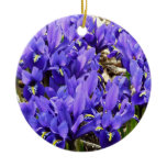 Katherine Hodgkin Irises Blue Purple Spring Floral Ceramic Ornament