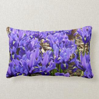 Katherine Hodgkin Irises Blue Purple Spring Floral Lumbar Pillow