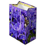 Katherine Hodgkin Irises Blue Purple Spring Floral Medium Gift Bag