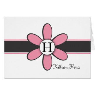 Katherine - Pink and Black Card