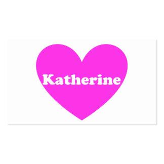 Katherine Tarjetas De Negocios