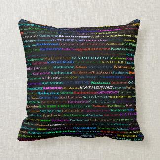 Katherine Text Design I Throw Pillow
