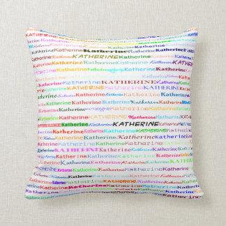 Katherine Text Design II Throw Pillow