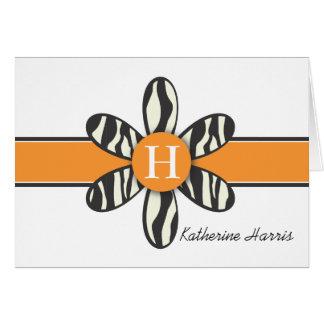 Katherine - Zebra and Orange Card