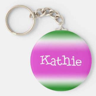 Kathie Basic Round Button Keychain