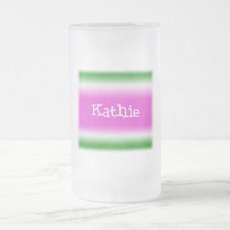 Kathie Frosted Glass Beer Mug