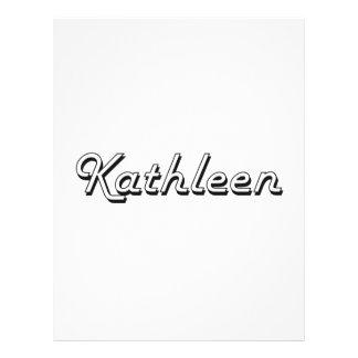 """Kathleen Classic Retro Name Design 8.5"""" X 11"""" Flyer"""