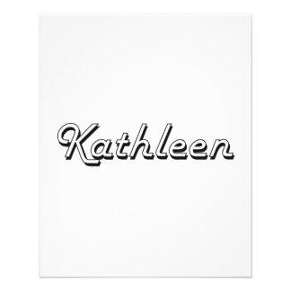 """Kathleen Classic Retro Name Design 4.5"""" X 5.6"""" Flyer"""