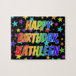 "[ Thumbnail: ""Kathleen"" First Name, Fun ""Happy Birthday"" Jigsaw Puzzle ]"