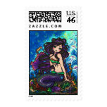 """Kathleen"" Mermaid and Jellyfish Stamps"