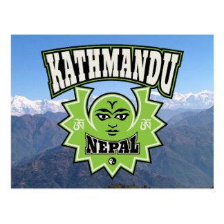 Kathmandu Himalayan Sun and Moon Symbols Postcard