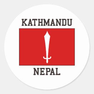 Kathmandu Nepal Classic Round Sticker