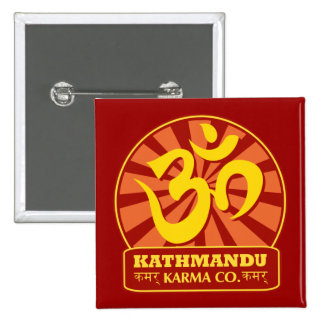 Kathmandu New Age and Buddhist Om Symbol Pins