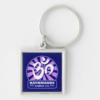 Kathmandu New Age and Buddhist Om Symbol Keychain