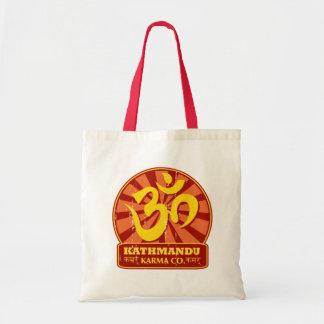 Kathmandu New Age and Buddhist Om Symbol Tote Bag