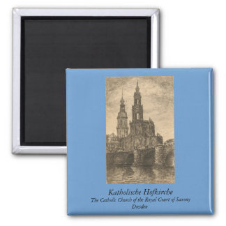 Katholische Hofkirche, Dresden 2 Inch Square Magnet