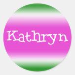 Kathryn Classic Round Sticker