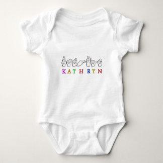 KATHRYN FINGERSPELLED ASL NAME SIGN BABY BODYSUIT