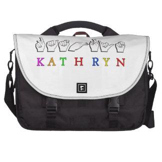 KATHRYN FINGERSPELLED ASL NAME SIGN COMMUTER BAGS