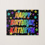 "[ Thumbnail: ""Kathryn"" First Name, Fun ""Happy Birthday"" Jigsaw Puzzle ]"