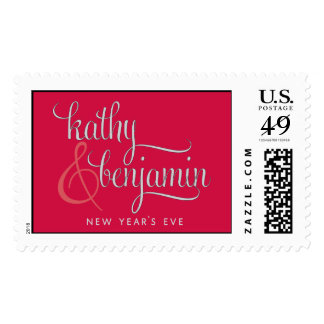 Kathy and Benjamin monogram Postage