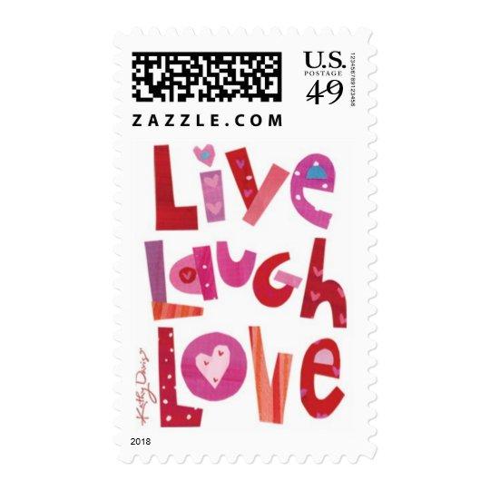 Kathy Davis - Live, Laugh, Love Stamp